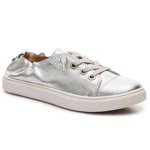 Steve Madden Jane Silver Slip On Sneakers 7.5